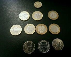 Coins £2 & 50p