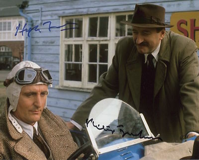 Philip Jackson and Hugh Fraser In Person Signed Photo - Poirot - AG221