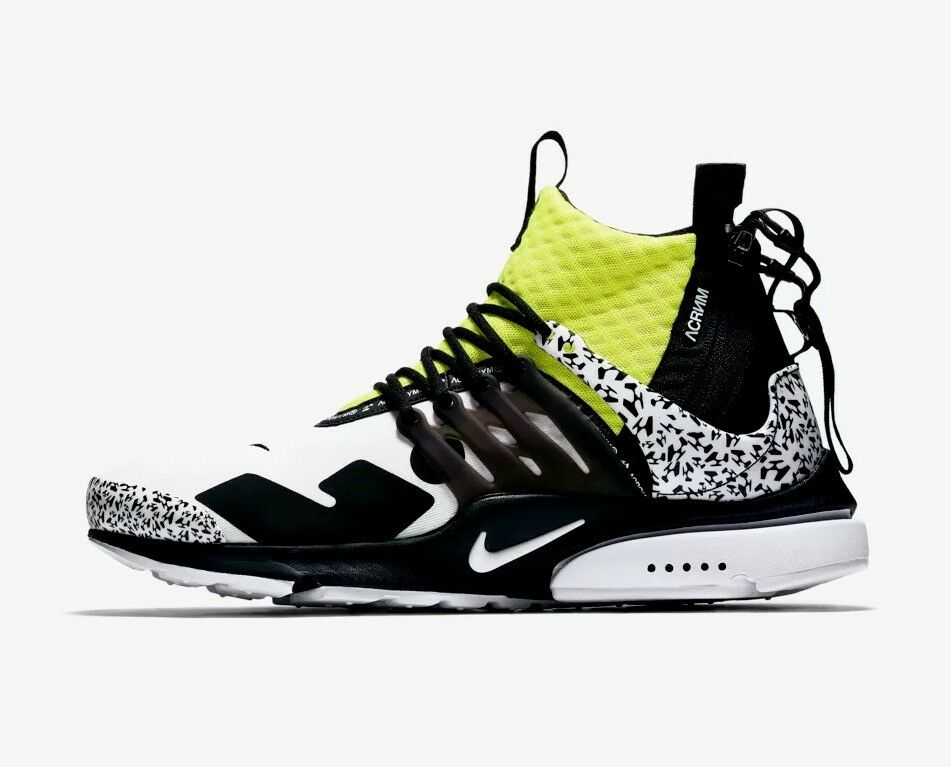26ec9cbfdb6e NIKE AIR PRESTO MID UTILITY X ACRONYM YELLOW   WHITE UK11 Mens Trainer