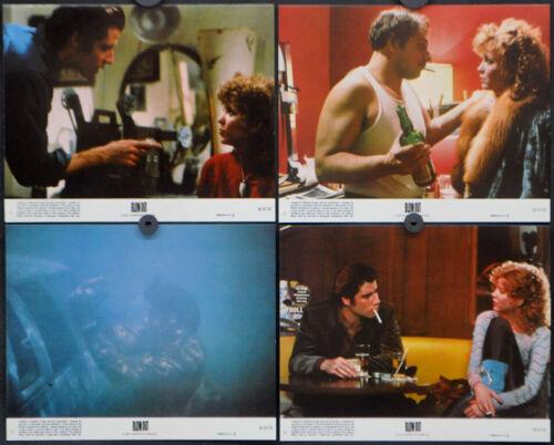 BLOW OUT 1981 ORIG 8X10 LOBBY CARD SET JOHN TRAVOLTA NANCY ALLEN BRIAN DE PALMA