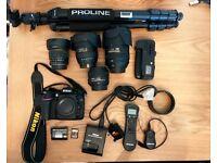 Nikon D7100 SLR (3000 shutters) with 4 lens (18-300/50mm/8mm/11-16)