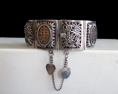 Silver SNAKE Slave BraceletHand Bracelet Black Eyes Adjustable To Fit Most Vintage 70/'s new old stock