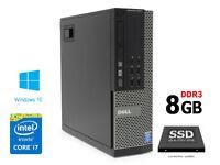 Dell OptiPlex 7010 SFF Core i7 3770 3.40GHz 8GB Ram 256GB SSD Win 10 PC