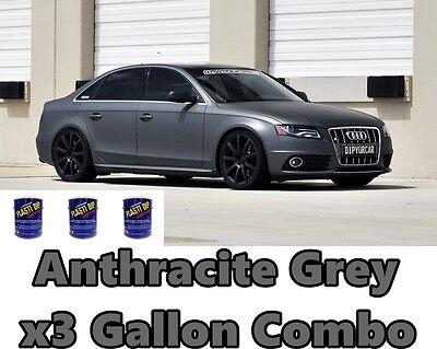 3 Gallon Anthracite Grey True Metallic Ready To Spray Plasti Dip Combo Bundle
