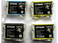 NEW and ORIGINAL EPSON PRINTER HIGH CAPACITY INK CARTRIDGES