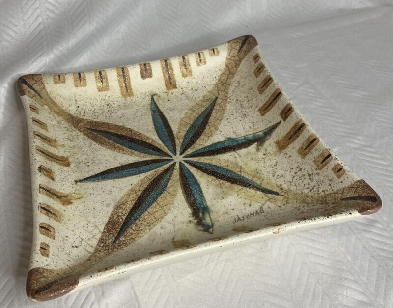 """Vintage Sasha Brastoff MCM China Pottery Plate, 8""""."""