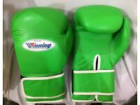 16oz wininng boxing gloves leather