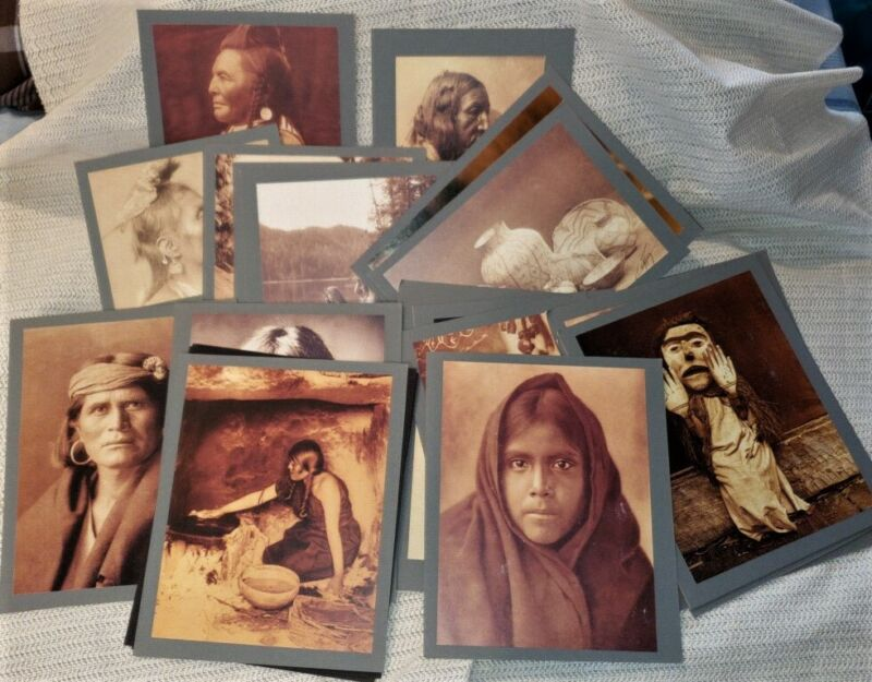 LOT OF 23 NATIVE AMERICAN PHOTO REPRODUCTIONS; SIOUX, APACHE, ETC. **FREE SHIP**