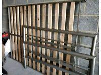 Square metal bed frame