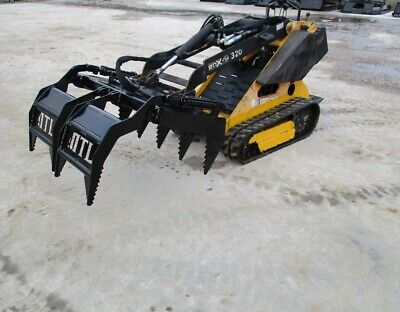 2020 Mtl Attachments Mini Talon Skid Steer Root-brush-log Grapple-vermeer-dingo