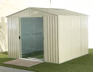 NEW STEEL OUTDOOR GARDEN STORAGE SHED - 257 x 259 x 202cm - BEIGE Chipping Norton Liverpool Area Preview