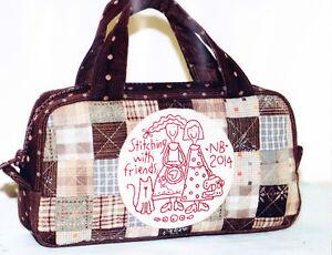 PATTERN - Stitching with Friends - stitchery & pieced bag PATTERN -The Birdhouse
