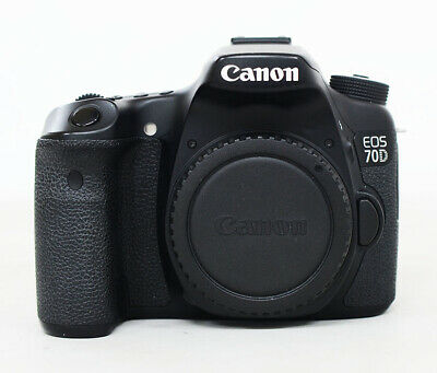 Canon EOS 70D 20.2MP Digital SLR Camera - Black