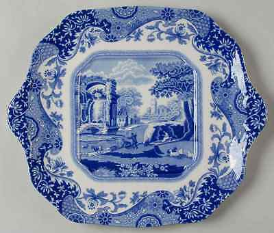Spode BLUE ITALIAN Square Handled Cake Plate 8950271