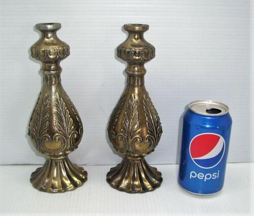 Pair of Ornate, Vintage Lamp Columns Spacers, Retro, Mid Century