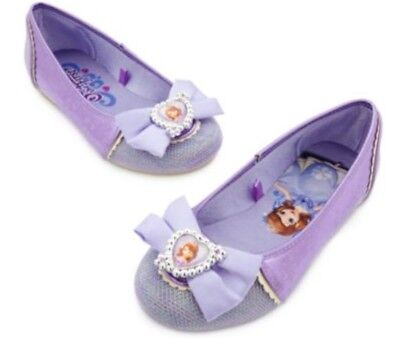 NEW Disney Store Princess Sofia the First Girls Costume Dress Up Slip On Shoes - Sofia The First Dress Up Shoes