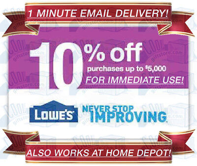 LOWES IN-STORE & ONLINE 10% OFF DISCOUNT PROMO CODE oneCOUPON EXP 11/30