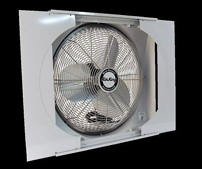 """Window Mounted Reversible Mainly House Fan 20"""" Plug-In 3-Speed Intake & Exhaust"""