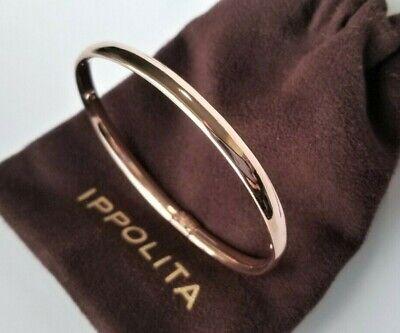 IPPOLITA - Rose Gold Fatto A Mano Smooth Oval Bangle Bracelet - Stunning! $595