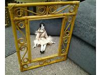 Retro ornate wall mirror