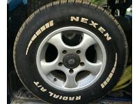Like new 4x4 tyres and alloys