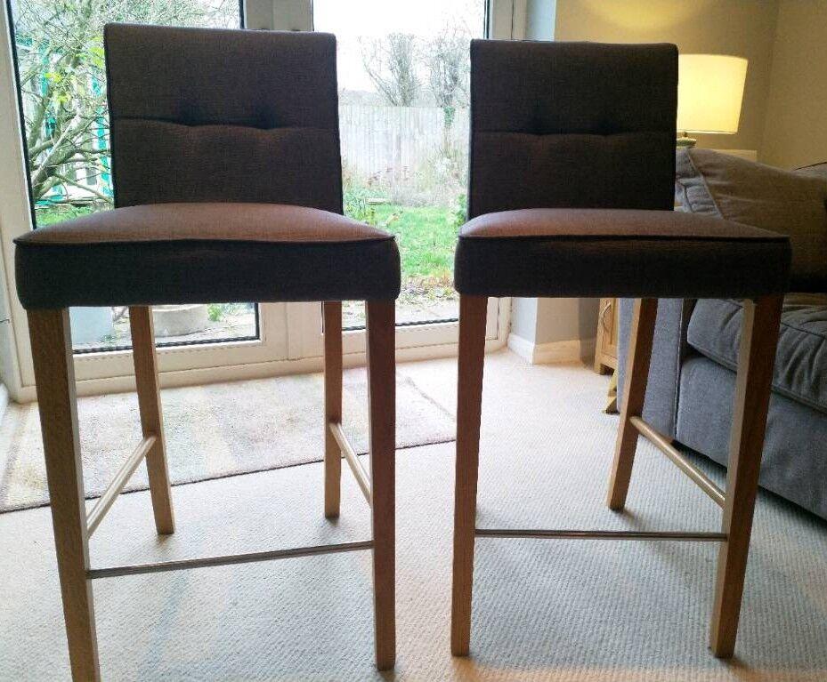 0610f77952a Pair of John Lewis Simone Bar Chairs (Grey)