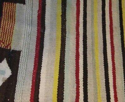 Antique Navajo Rug Saddle Blanket Native American Weaving Textile 1900