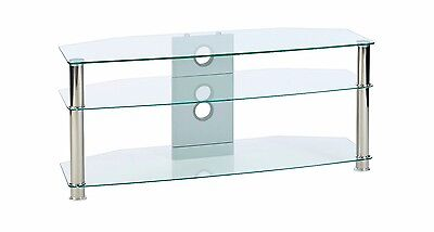 mmt tv stand clear glass universal corner unit 1150mm 42 46 50 55 inch LED LCD