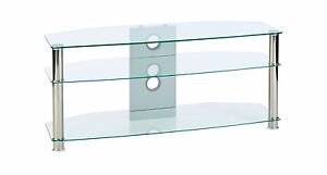 tv stand clear glass corner unit 1150mm/45.3