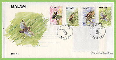 Malawi 1991 Insects set on First Day Cover