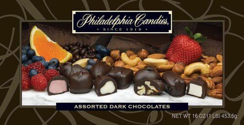 Philadelphia Candies Assorted Dark Boxed Chocolates, 1 Pound