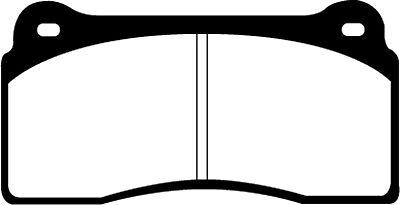 Disc Brake Pad Set-Base Front,Rear EBC Brake DP31110C