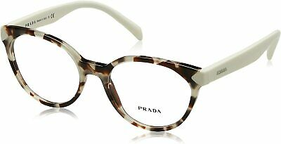 PRADA PR 01TV UAO1O1 Spotted Opal Brown Demo Lens 53 mm Women's Eyeglasses