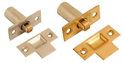 Adjustable Brass Roller Catch Satin Chrome Mortice Door Latch Ball With Fixings Chrome Brass Roller Latch