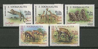 Tiere, Animals - Somalia - 5 Werte ** MNH 1992 Teilsatz