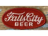 "NOS Vtg 70s 14K HUDEPOHL BEER Red Patch Louisville Kentucky MINT 3.25/""x2/"""