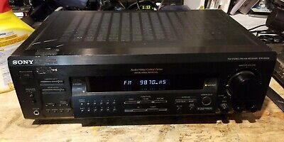 Working Sony Receiver Amplifier AM FM Stereo Home Theater Audio STR-DE325