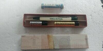 Vintage Autopoint  mechanical pencil advertising Utica Mutual with box papers ++