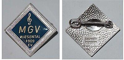 Broschen-Anstecker MGV Wiesental 1909 EV / Musik und Gesang