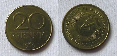 20 Pfennig DDR 1969 Fehlprägung, prägefrisch, Stempeldrehung 100 Grad (123520)