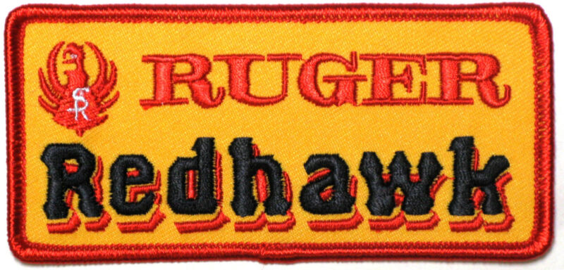 Ruger RedHawk Firearms Embroidered Gun Patch Crest Applique 2x4.25 inch Iron-on