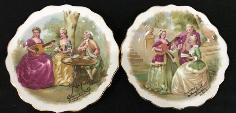 Royal Standard Victorian Fragonard Langbroek Amsterdam Display Plates Set 2