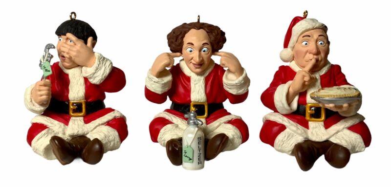Hallmark Keepsake Christmas Ornaments - The Three Stooges, Larry Curly Moe 1999