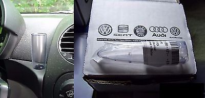 NEW! OEM Volkswagen VW New Beetle CLEAR Bud Vase For Flower or Daisy 1998 -2010