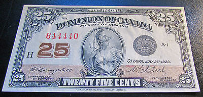 Click now to see the BUY IT NOW Price! DOMINION OF CANADA 25 CENTS 1923  SHINPLASTER DC 24 D SHARP & CRISP