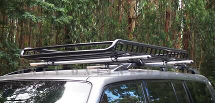 1.9/1.4m Roof Rack Cage Cargo Basket Luggage Carrier Tray Box