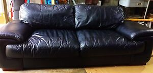 High quality Black Leather Couch for sale Churchill Ipswich City Preview