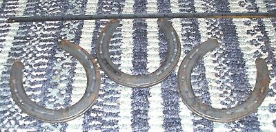 VINTAGE ST. CROIX FORGE ESTATE LOT OF (3) #2 HORSESHOES PERFECT FOR REFINISHING!