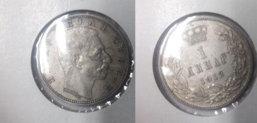 1912 Serbia Silver 1 Dinar