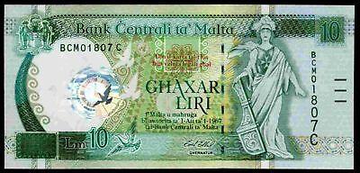 Malta. Ten Lira, BCM01807C, Millenium Commemorative, (2000), GEF/AU.